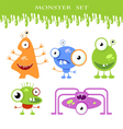 Halloween monster set vector image vector image