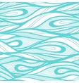Abstract hand drawn waves background vector image
