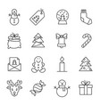 christmas icons -xmas tree snowman and gifts vector image