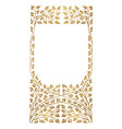 golden frame leaves ornament vector image