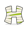 H Letter Monster zombie Alphabetical icon medical vector image