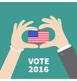 President election day 2016 Voting concept Man vector image