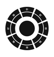 Round chart icon flat style vector image
