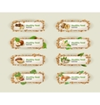 Set banners with different kinds of nuts vector image