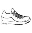 tennis shoe isolated icon vector image