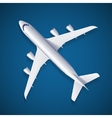White Airplane vector image