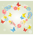 Abstract background-floral love shape heart from vector image