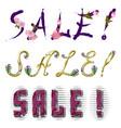 Sale - inscription vector image vector image