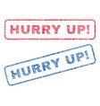 hurry up exclamation textile stamps vector image