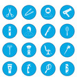 hairdressing icon blue vector image