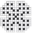 empty crossword puzzle vector image vector image