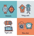 Clock Design Concept vector image vector image