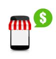 Shop mobile smart phone 002 vector image