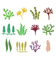 Seaweed icons set - nature food trends concept vector image