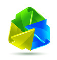 Colorful arrows icon for your design vector image
