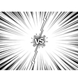 Comic versus battle intro vintage background vector image