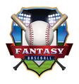 Fantasy Baseball Badge vector image