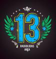 Grunge 13 Number vector image