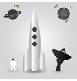 space rocket launch eps10 vector image