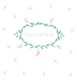 Spring floral circle ornament with text vector image