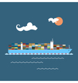 Cargo Container Ship at Sea vector image