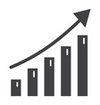 business growth solid icon business and financial vector image