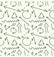 set of arrows drawn in chalk on the blackboard vector image