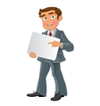 Office worker with text background vector image vector image