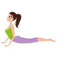 Young girl doing yoga exercise isolated on white vector image vector image