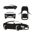 Silhouette Car Isolated on White vector image vector image