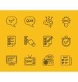 Set of line quiz icons vector image