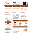 coffee and dessert menu flat design vector image