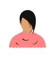 Avatar woman barbershop flat icon vector image