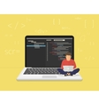 Young programmer coding a new project vector image