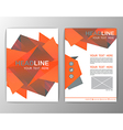 Abstract Brochure Template Business polygon vector image