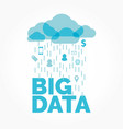 big data cloud vector image