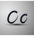 calligraphic hand-drawn marker or ink letter O vector image