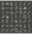 cosmetic beauty and make up icon set vector image