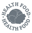 health food logo simple style vector image