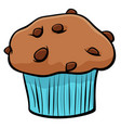 muffin with chocolate cartoon object vector image