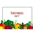Paper vegetables flat style set on a background vector image