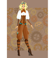 Steampunk girl vector image