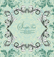 ornate vintage frame on damask background vector image vector image