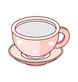 A cup and saucer vector image vector image