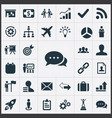 Set of simple strategy icons elements vector image