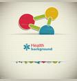 medicine paper background vector image
