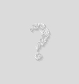 Decorated question mark vector image vector image