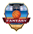 Fantasy Basketball Badge vector image vector image