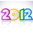 happy new year 2012 design element vector image