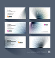 business card template with soft shapes and vector image